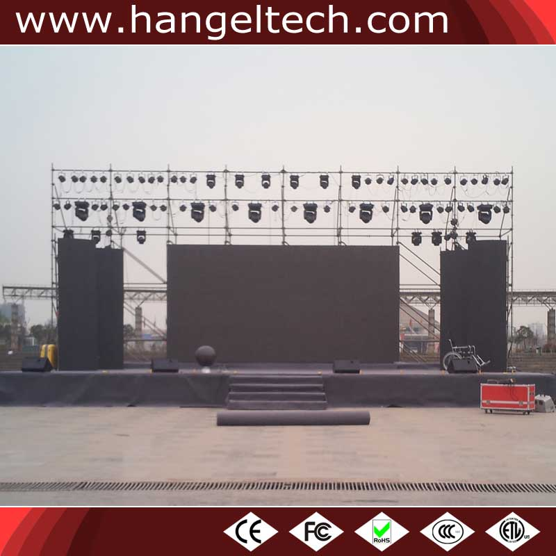P6mm Indoor Outdoor RGB Digital LED Video Board for Rental - 576x576mm Cabinet