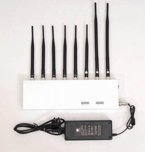 High Power 8 Antenna Cell Phone,3G,WiFi,GPS,VHF,UHF Jammer
