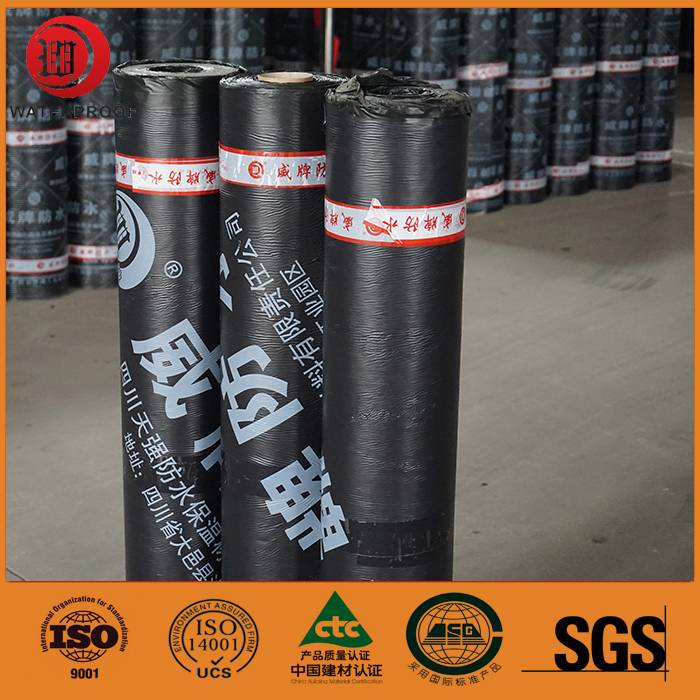 high polymer self-adhesive sbs modified bituminous waterproof membrane