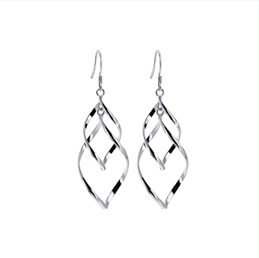 Solid .925 Silver Fashion Dangle Earring High Polished Available