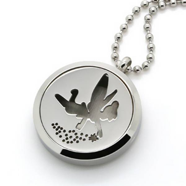 Hypoallergenic 316 stainless steel Aromatherapy Essential Oil Diffuser locket pendant