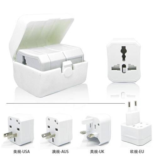 Wholesale Mini Universal Travel Adapter for Electrical Promotional Gift, UK, US, AU, EU Plug