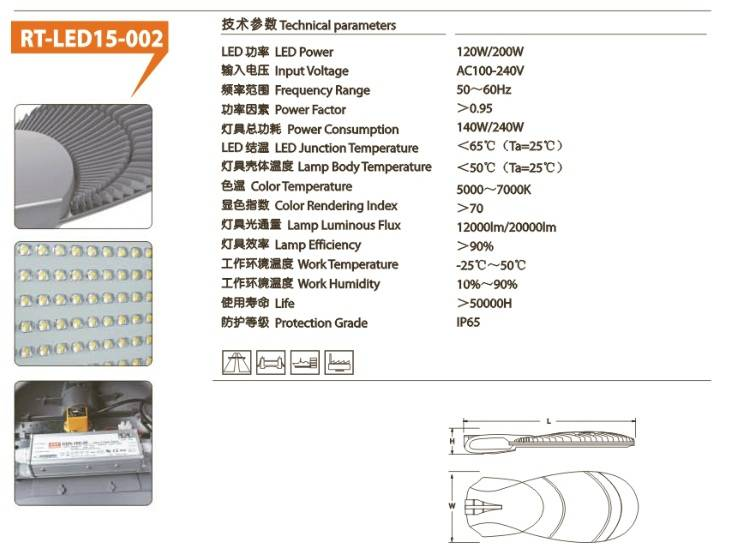 Factory Directly Customized 10W-400W New Design Professional Manufactory of LED street  Light