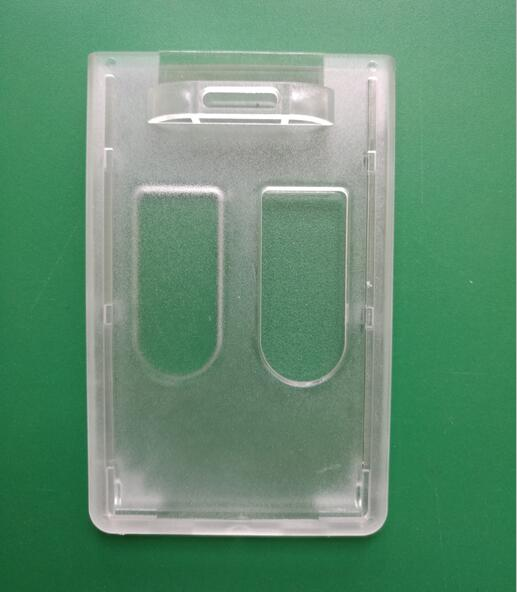 Premium Two Card Badge Dispensers,Vertical Enclosed ID badge holder with two thumb slot