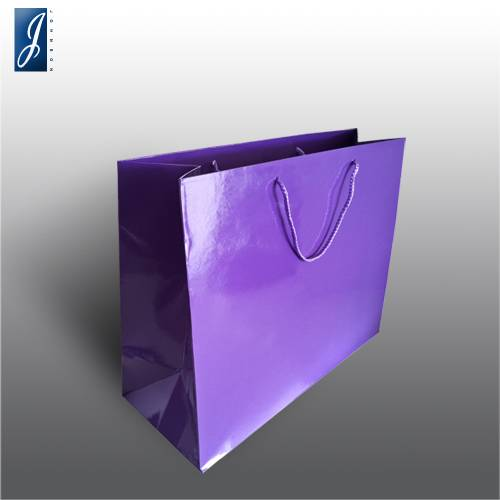 Currency big violet gift bag
