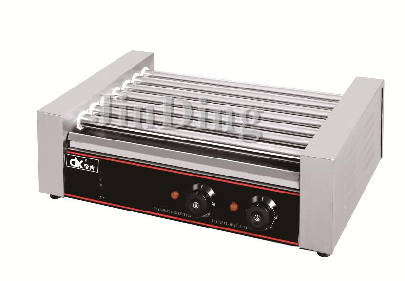 5/7/9/11 rolls Hot dog roller grill machine