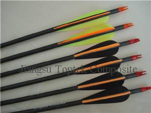 carbon fiber arrow, toptek carbon arrow, high quality carbon archery arrow
