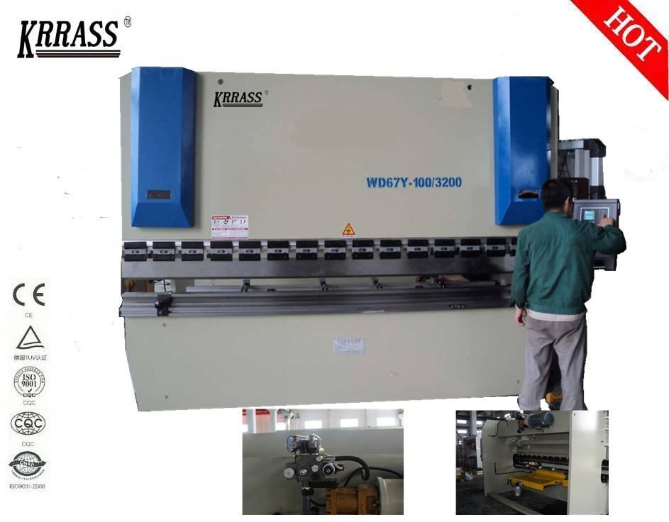 Krrass New product small hydraulic press brake for sale of wc67y 160tons hydraulic press brake