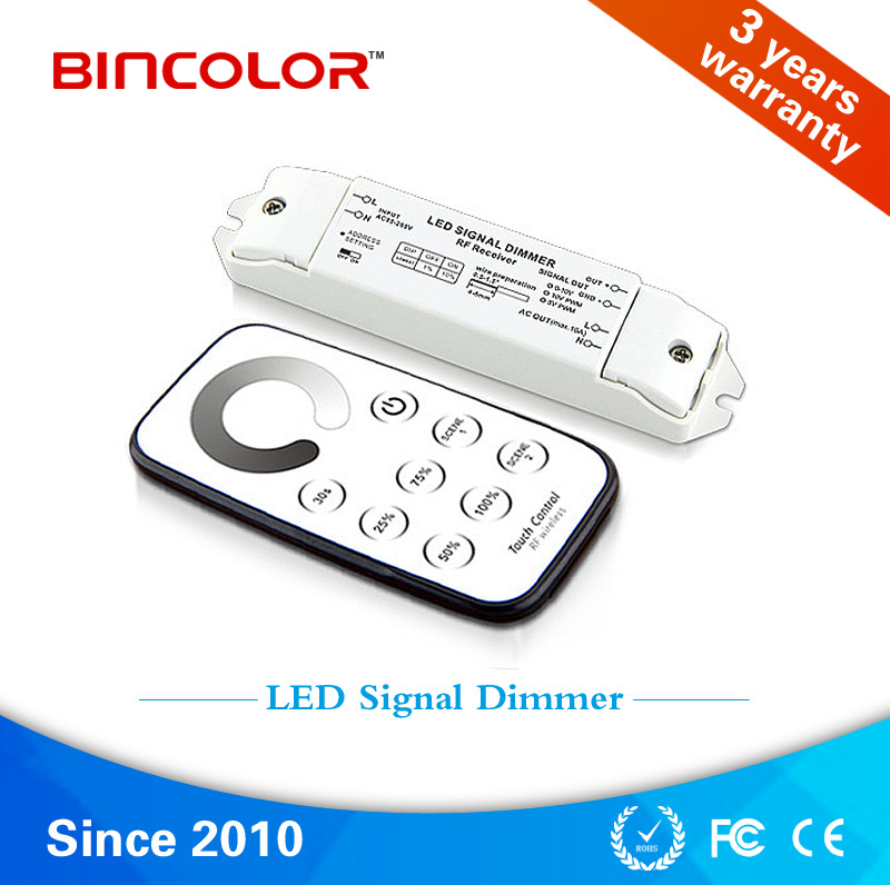 T1 R1-010V Best selling products 0-10v signal touch remote single color led dimmer controller