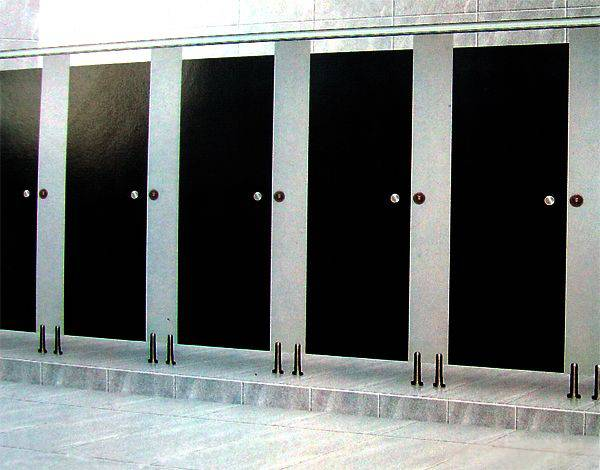 Water proof panels portable toilet price high quality/toliet cubicle/ SS toilet partition hardware