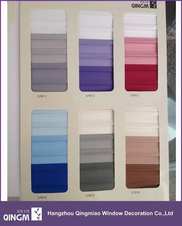 New pattern zebra blinds sheer fabric