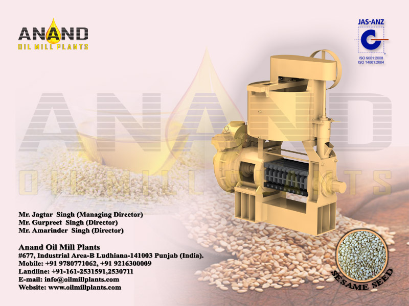 Sesame Seed Oil Expeller Machine Manufacturers Exporters in India Punjab