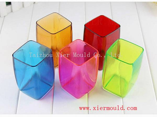 Plastic transparent drinking cup mould
