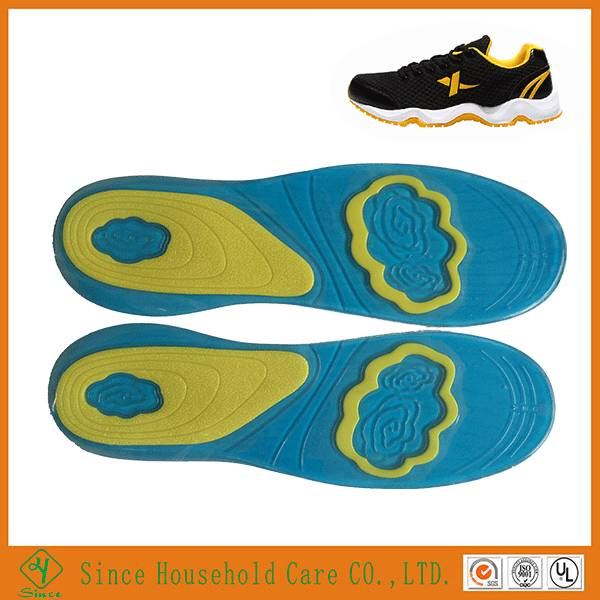 Men and women Sport orthotic pain relief massaging gel insole for shoes