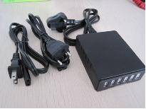 2015 50w 5v 10a Desktop 6 port USB Charger with CE/FCC/RoHS Approved