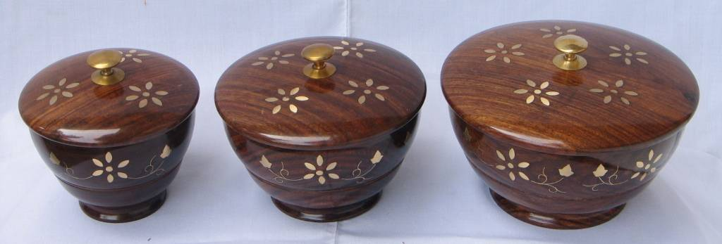 Wooden Bowls with Lid