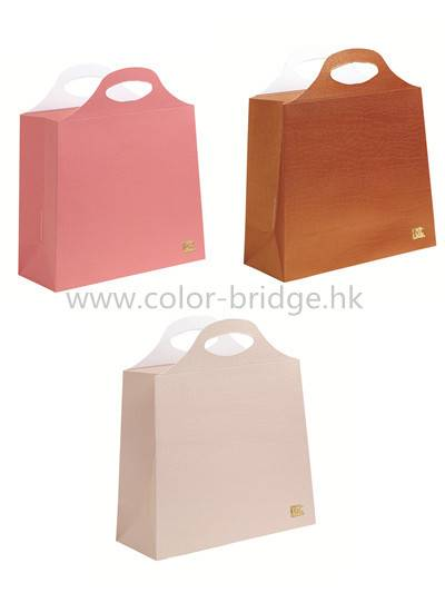 Customize Design  Die-cut  Handle Shopping Packaging Paper Bag Gift Bag