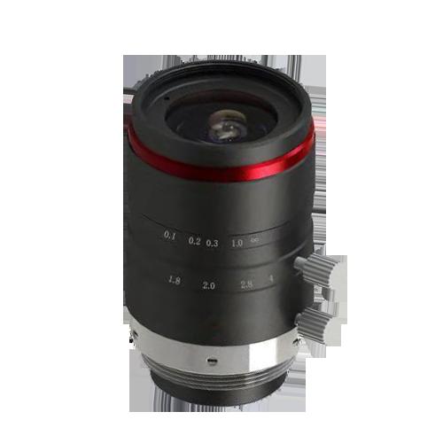 "10 Megapixel 2/3"" 25mm machine vision ITS FA non distortion cctv megapixel lens"