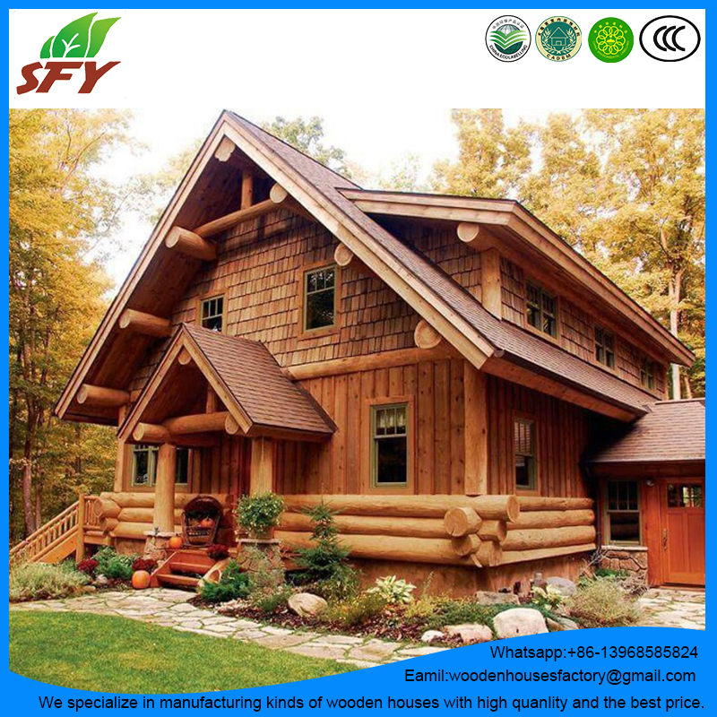 Factory of prefab wooden houses/log house with the best price
