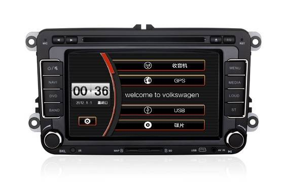 Wholesale Wince 6.0 Smart Car DVD Player CAN-BUS TV GPS 7.0 Inch Screen for Volkswagen