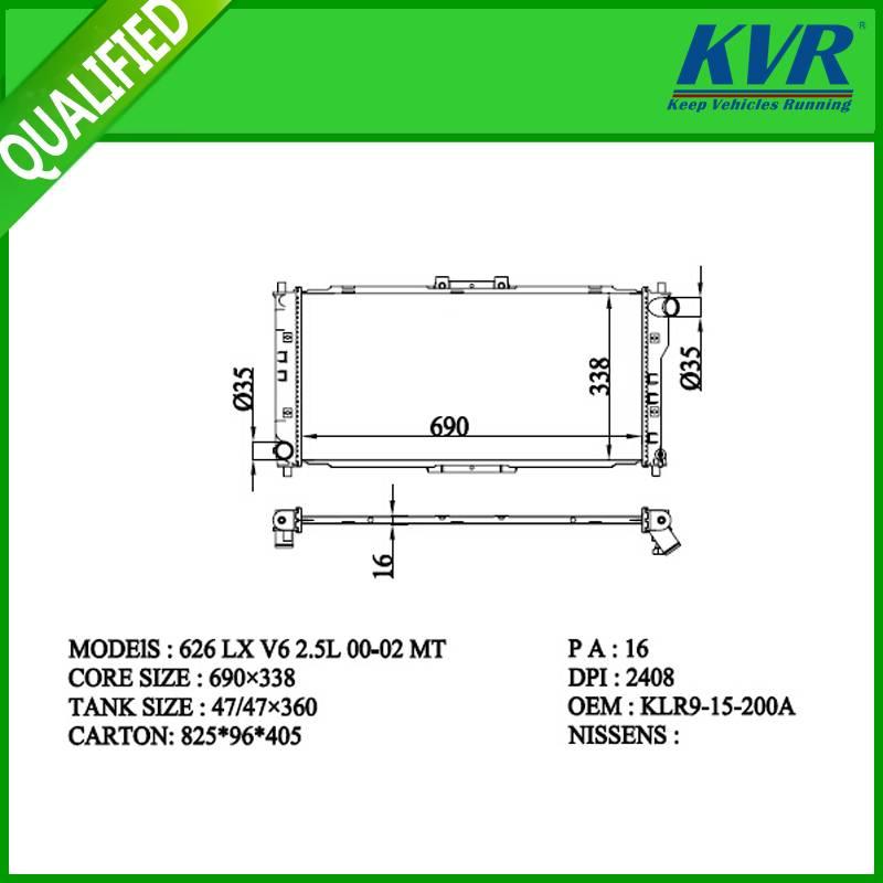 radiator FOR MAZDA 626 LX V6 2.5L 00-02
