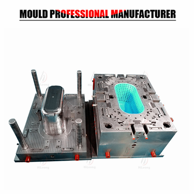 plastic injection molding shopping basket mold