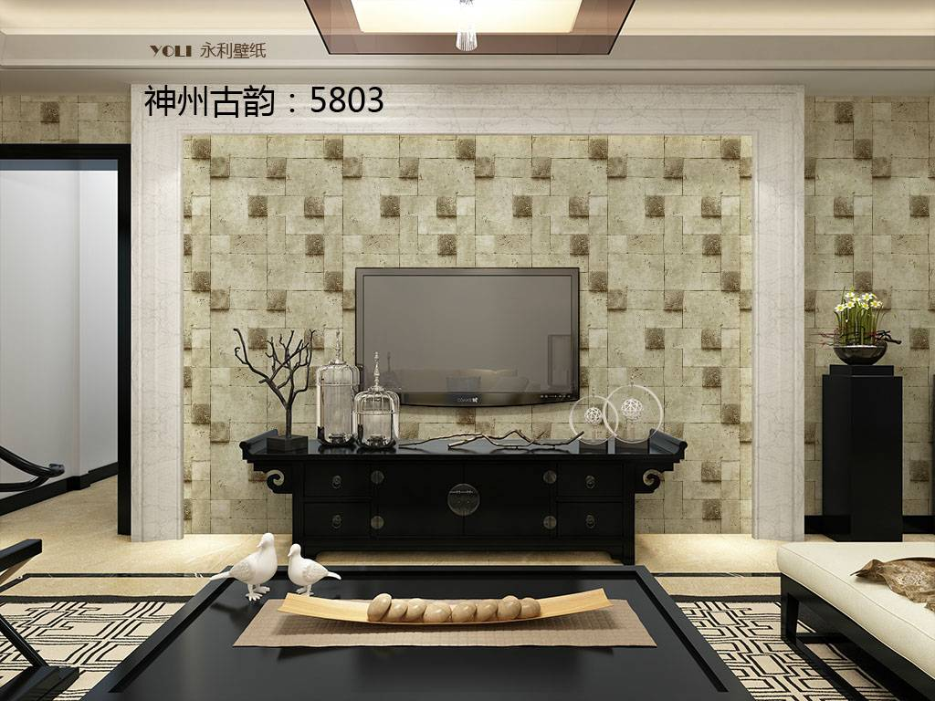 Classical Collection Chinese Style Nature Art Home Interior Decoration Wallpaper