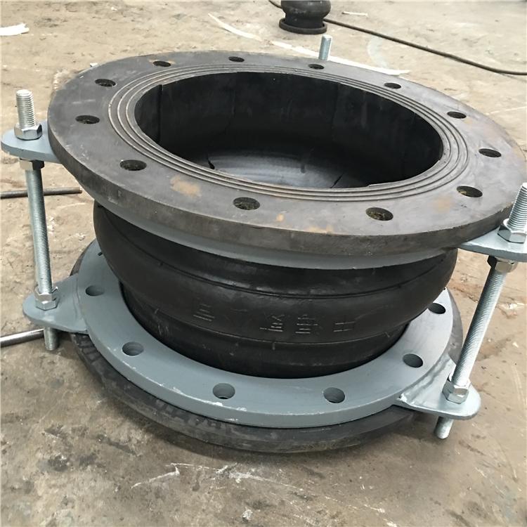 Union connector rubber compensator flange galvanized expansion joint