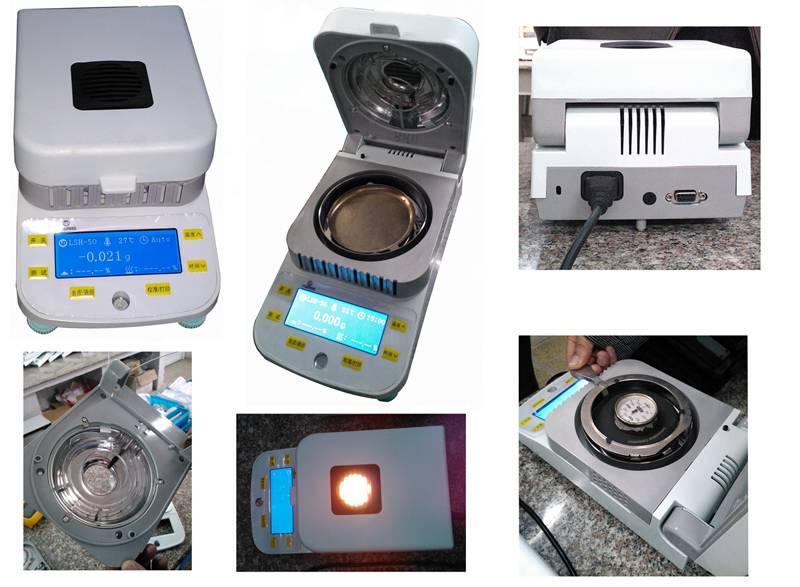DSH-50 halogen infrared fast digital moisture analyzer