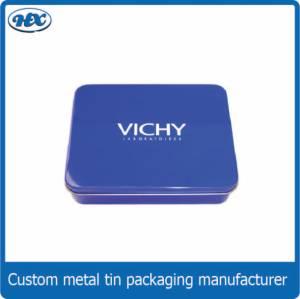 Blue rectangle tin box