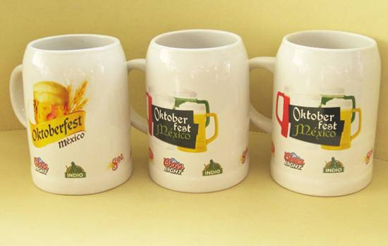 Ceramic Stoneware Beer Mug with Custom Imprint