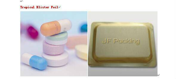 Color Tropical Blister Foil for Pharmaceutical Packaging