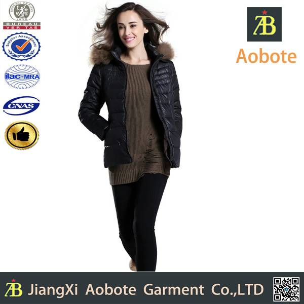 2014 Cheap custom outdoor lady long first down coat