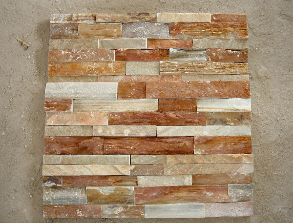 natural slate rough surface rusty cultured stone for wall cladding decoration