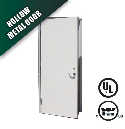 steel fire door in flush type