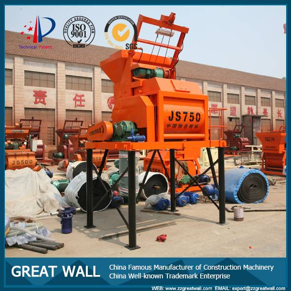 China Well-known Trademark JS750 Concrete Mixer