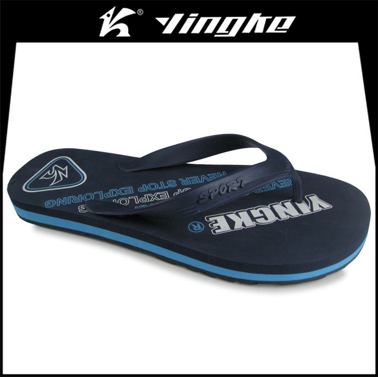 Custom printing good quality pvc eva cheap brazil flip flops men slippers beach