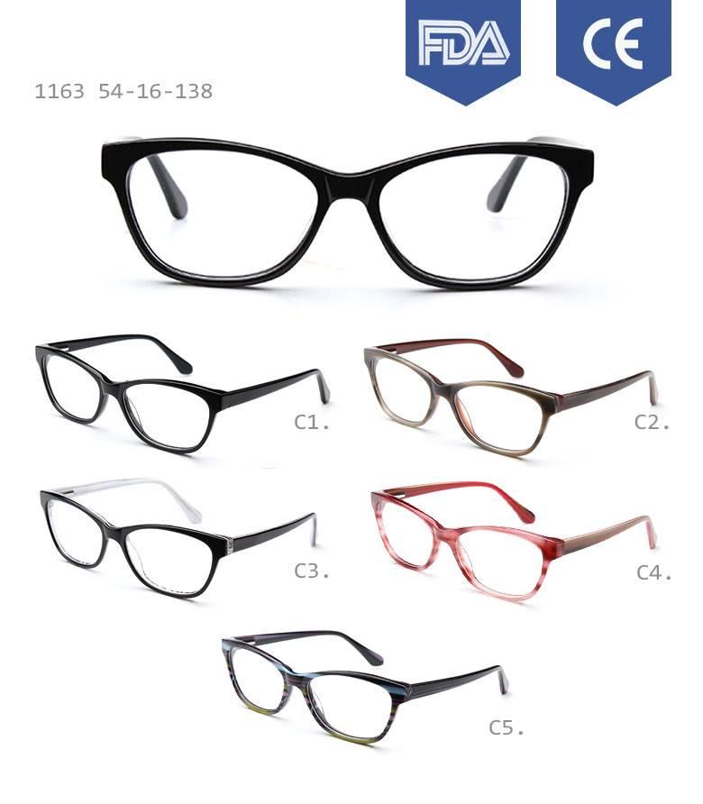 latest model spectacle frame acetate eyewear optical frame