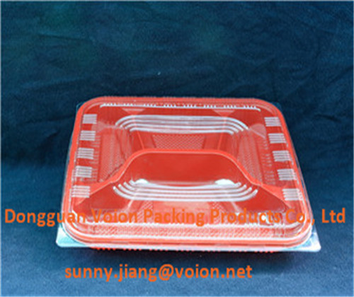 disposable plastic food packaging box, food grade lunch packaging trays