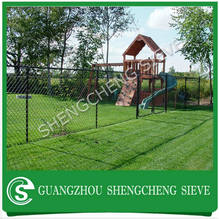 Cheap price decorative garden fencing PVC coated chain link fence for sale