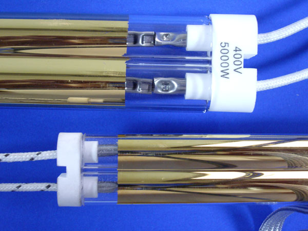 Gold Coated Twin tube heating lamp