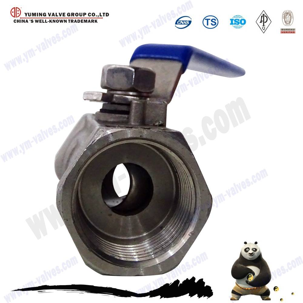 1pc reduce bore stainless steel CF8 ball valve