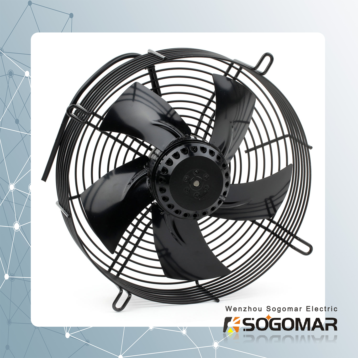 Axial Fan SFM200 with metal impeller for cooling ventilation fan