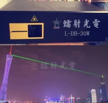 20w-60w single green landmark laser