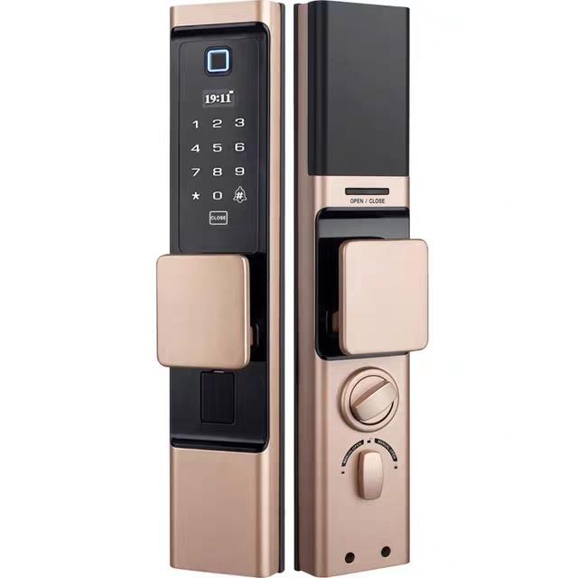 Smart door lock automatic fingerprint lock household security door