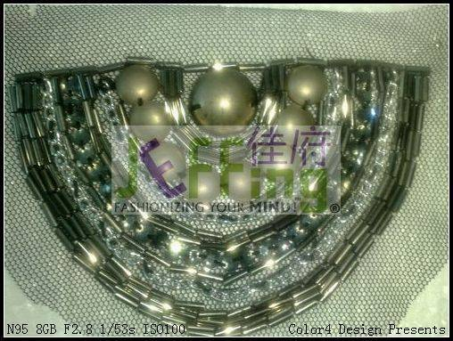 hand-made bead patch,appliqué,sequin patch,neckline bead patch,shoulder bead patch