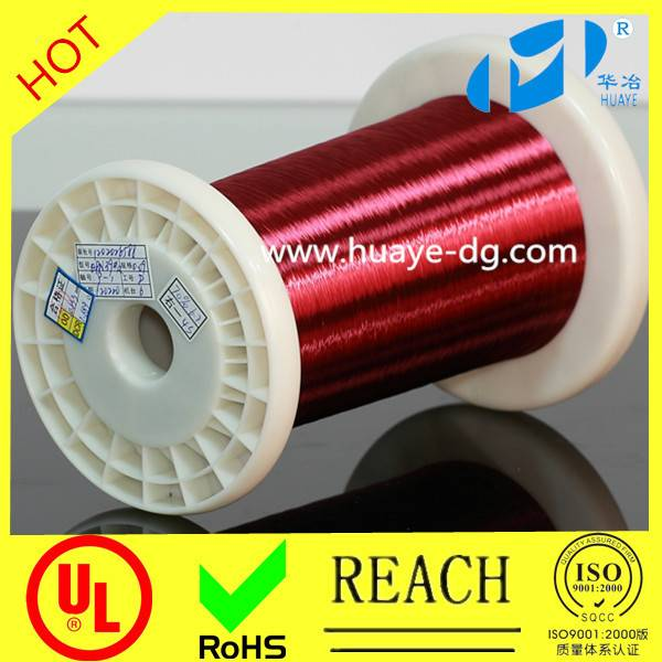 cable solderable polyurethane 155 class self bonding enamelled copper wire,self adhesive enamel wire