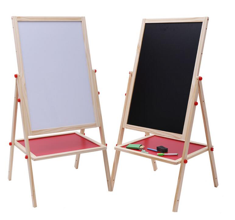 School kids wooden blackboard Foldable whiteboard easel with stand