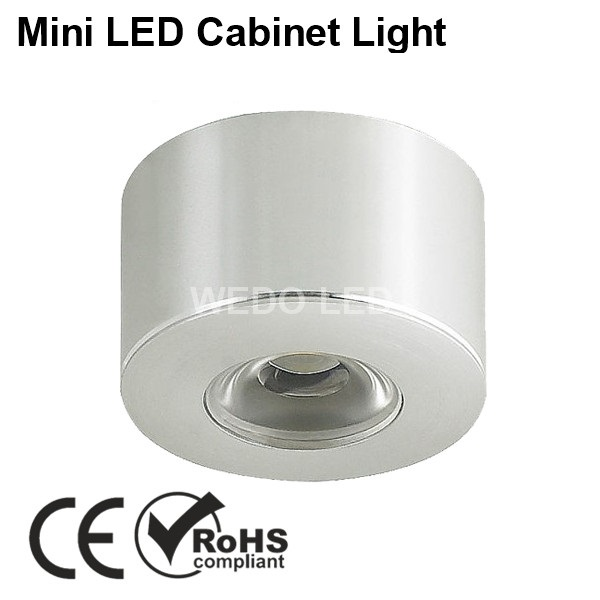 1W 12V Surface Recessed Mounted LED Kitchen Cabinet Light