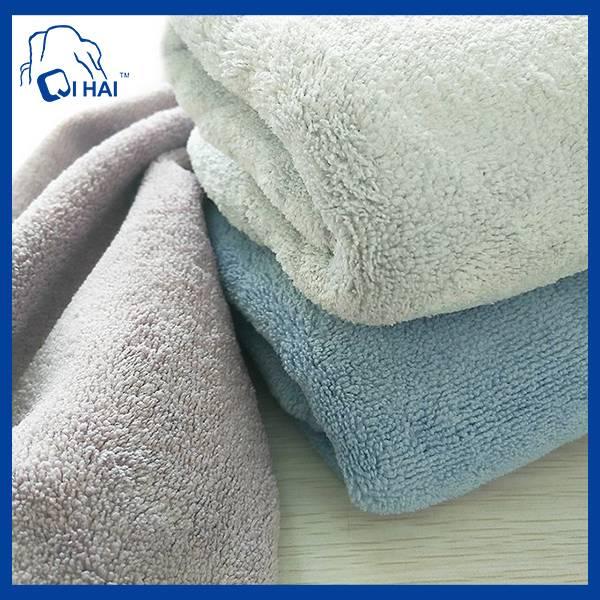 Microfiber Coral Fleece Bath Towel (QHB88943)